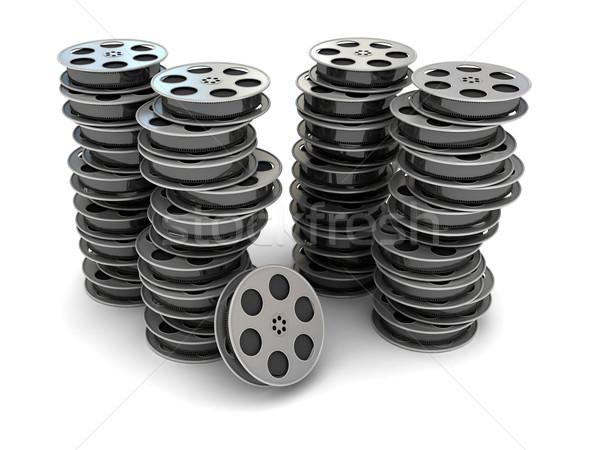 фильма Film Reel 3D оказанный изображение аннотация Сток-фото © blotty
