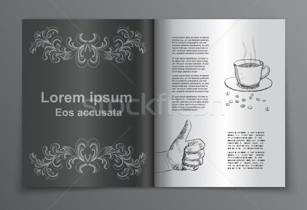 Stock photo: Vector retro brochure book  cover