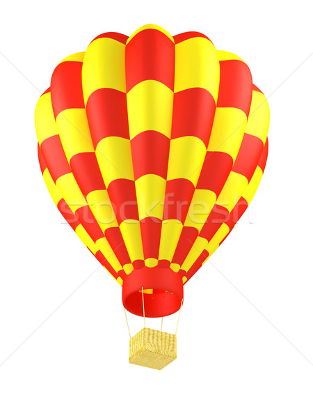 Stock photo: hot air balloon isolated on white