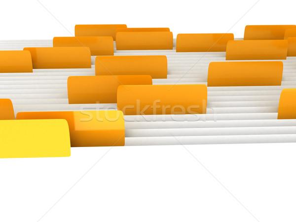 Beyaz klasörler bilgisayar oluşturulan görüntü Stok fotoğraf © blotty