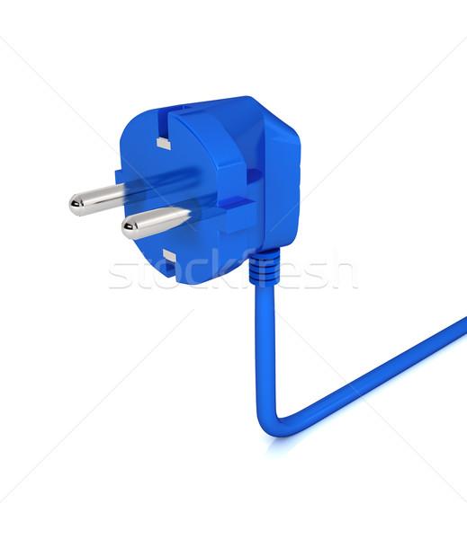 électriques plug blanche ordinateur généré image Photo stock © blotty