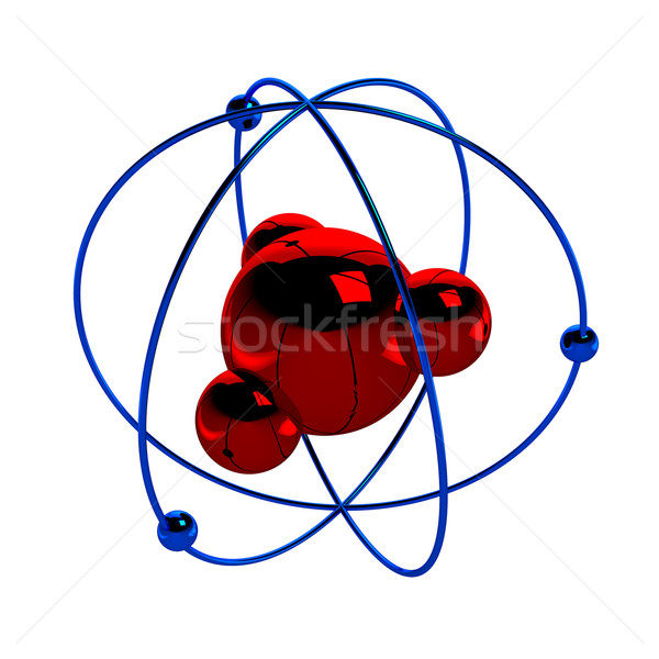 Digital illustration of atom Stock photo © blotty