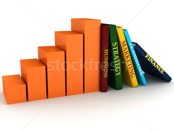 Business book with chart Stock photo © blotty
