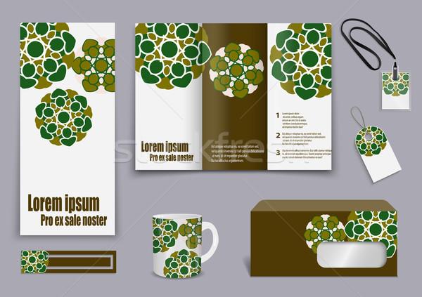 セット プレゼンテーション チラシ デザイン コンテンツ 幸せ ストックフォト © blotty