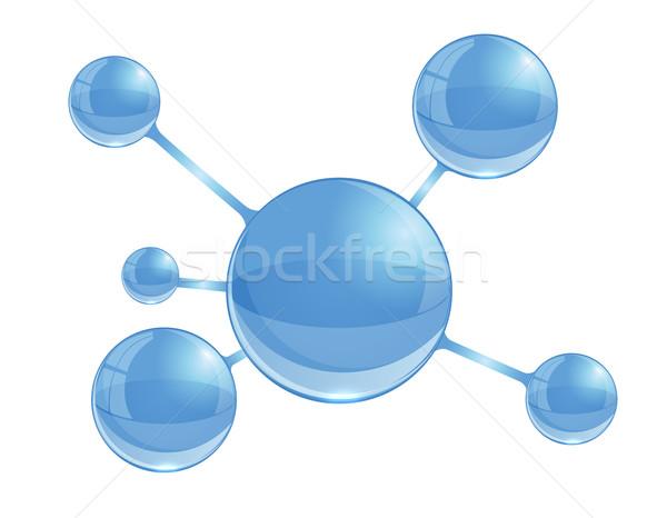 просто шаг шаблон бизнеса бумаги Сток-фото © blotty