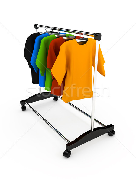Hanger with clothes any color Stock photo © blotty