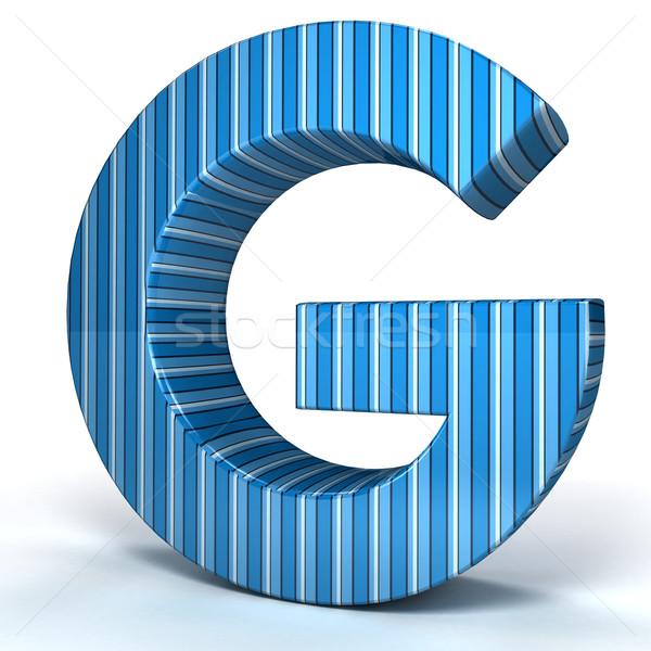 Mavi mektup beyaz 3D render görüntü Stok fotoğraf © blotty