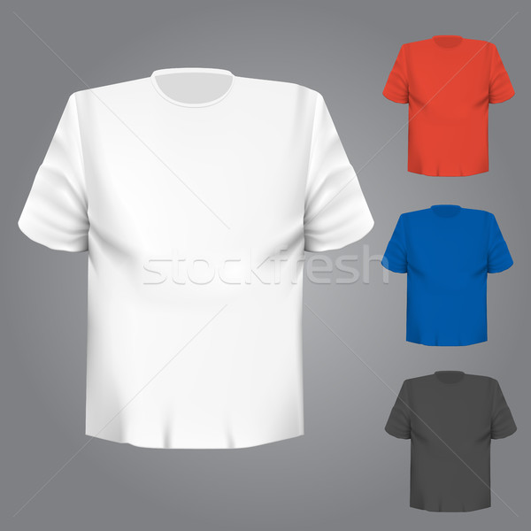 Camiseta color gris vector cuerpo modelo Foto stock © blotty