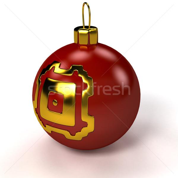 Navidad blanco 3D prestados imagen Foto stock © blotty