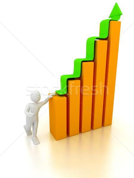 Stock fotó: 3D · absztrakt · diagram · cég · bemutató · technológia