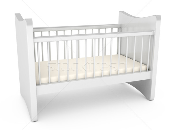 Baby cot over white background Stock photo © blotty