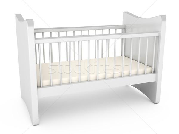 赤ちゃん 白 コンピュータ 生成された ホーム ストックフォト © blotty