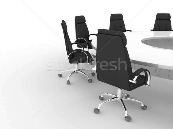Business concept. Financial conference Stock photo © blotty