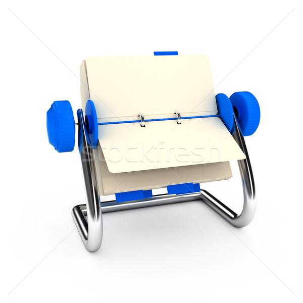 Karty katalog biały komputera wygenerowany obraz Zdjęcia stock © blotty