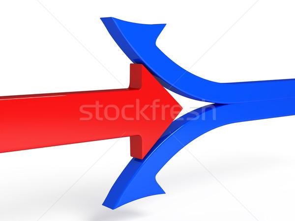 3次元の図 赤 矢印 ビジネス スペース ストックフォト © blotty