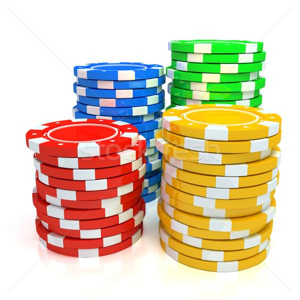 простой фишки казино белый деньги дизайна Сток-фото © blotty
