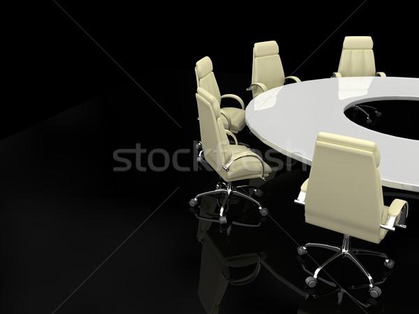 ストックフォト: ビジネス · 金融 · 会議 · 3dのレンダリング · オフィス · 表