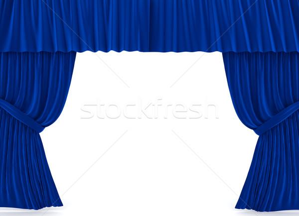 Foto stock: Cortinas · blanco · 3D · prestados · imagen · industria