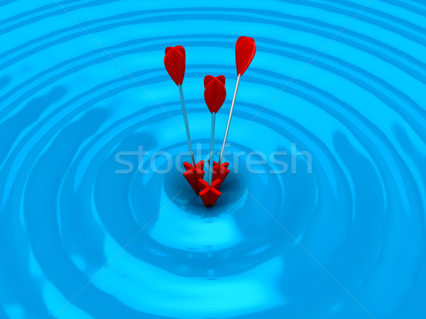 3D target frecce bianco computer generato Foto d'archivio © blotty