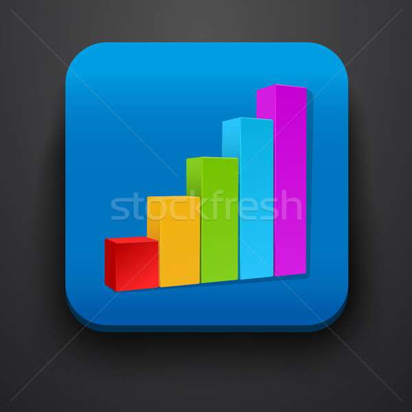 Crecimiento stock símbolo icono azul vector Foto stock © blotty