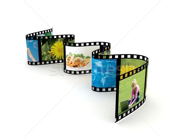 Film witte 3d render school abstract ontwerp Stockfoto © blotty
