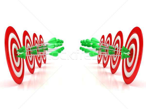3d target with arrows over white background Stock photo © blotty