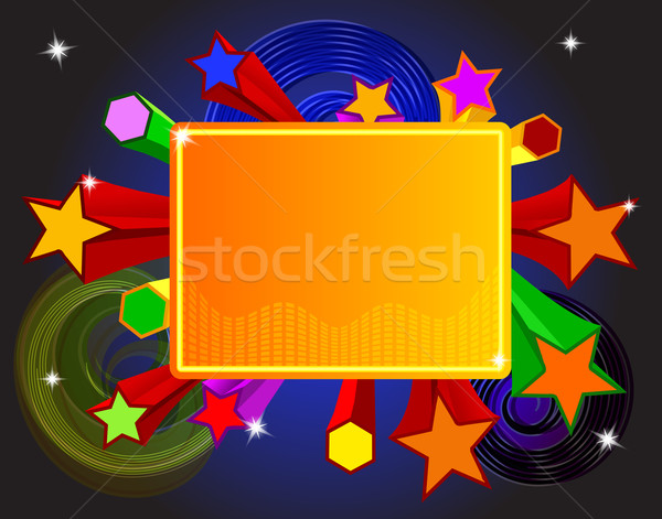 Disco bright banner with stars Stock photo © blotty