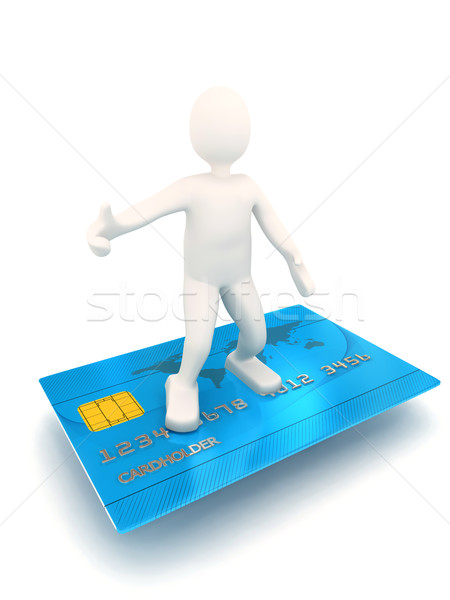 3d person on credit card Stock photo © blotty