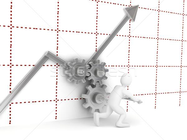 Stock fotó: 3D · diagram · technológia · háttér · felirat · hálózat