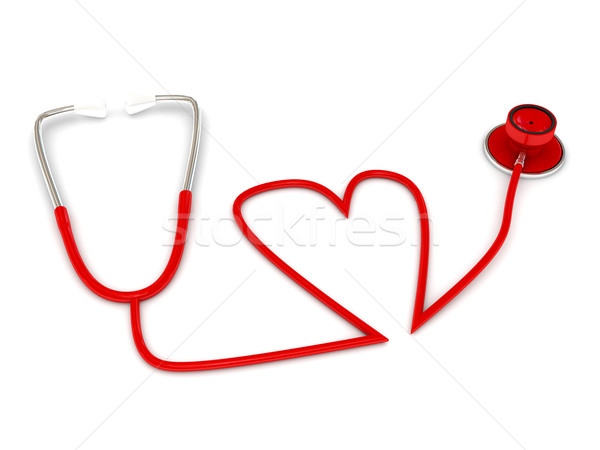 stethoscope over white Stock photo © blotty