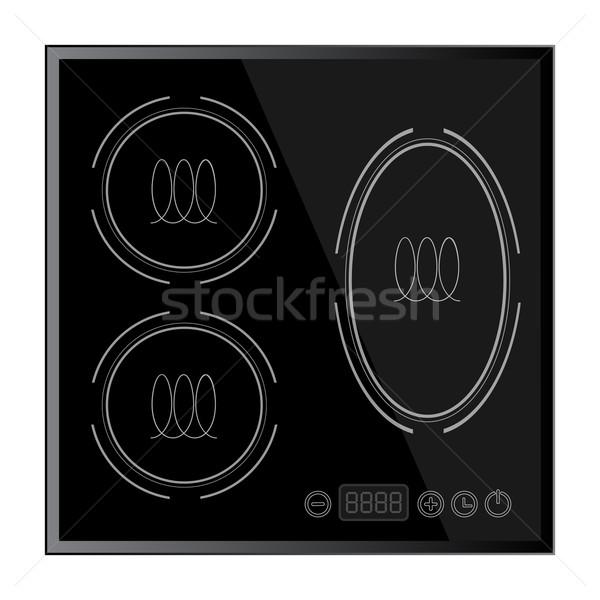 Kitchen - Induction hob, household appliances Stock photo © blotty