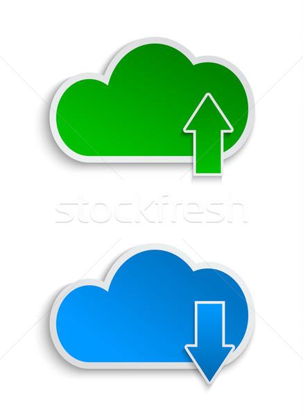 ファイル 紙 インターネット 技術 ストックフォト © blotty