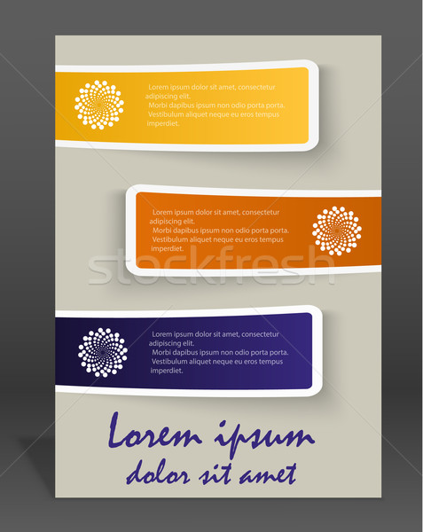 ベクトル パンフレット 雑誌 カバー テンプレート 実例 ストックフォト © blotty