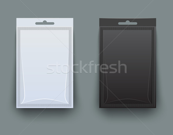 White and black blank pack for spices Stock photo © blotty