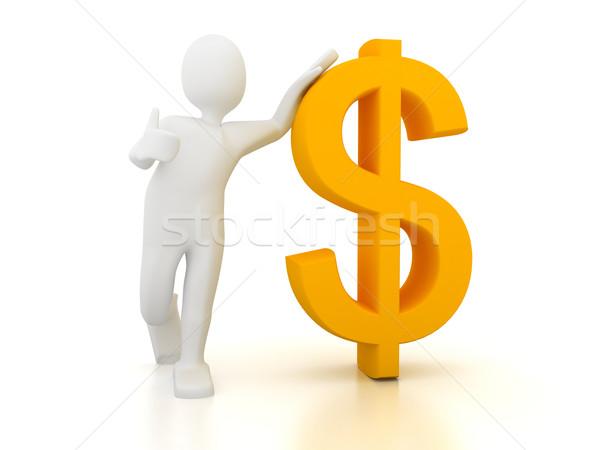 3 ª persona signo de dólar blanco negocios dinero fondo Foto stock © blotty