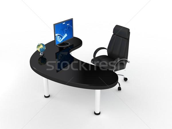 üzlet szék fehér 3d render háttér piac Stock fotó © blotty