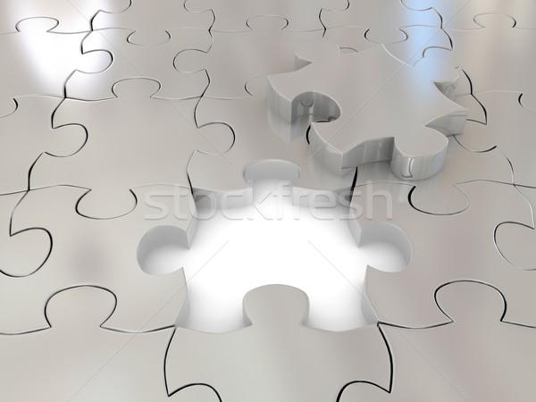 パズル 3D レンダリング 画像 ビジネス 建設 ストックフォト © blotty