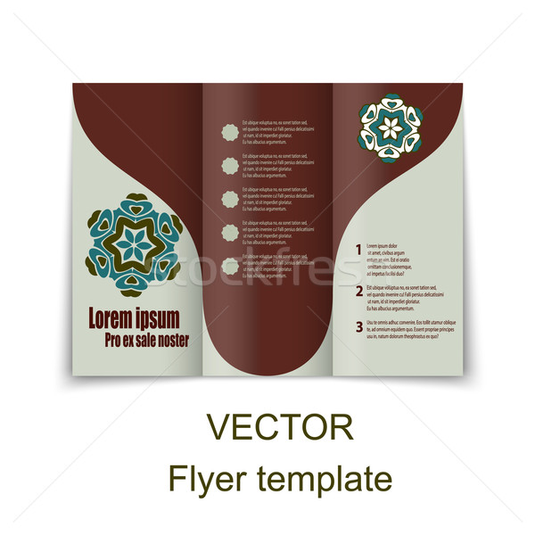 Vector brochure lay-out ontwerpsjabloon eps10 illustratie Stockfoto © blotty