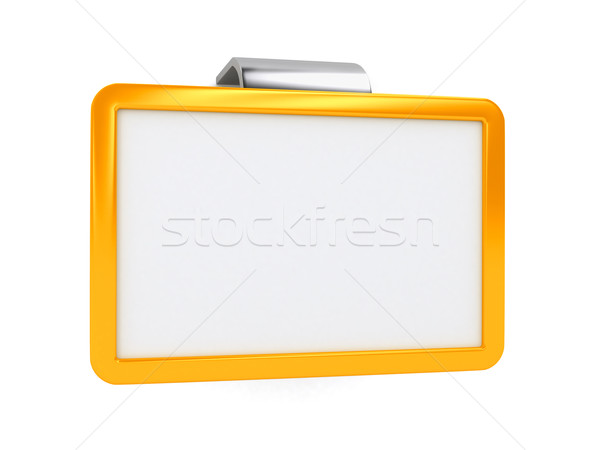 Board on spring over white background Stock photo © blotty