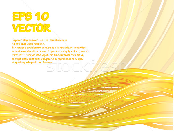 Abstract vector background with yellow waves Stock photo © blotty