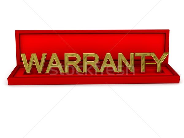 шкатулке слово гарантия 3D оказанный изображение Сток-фото © blotty