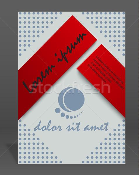 ベクトル パンフレット 雑誌 カバー テンプレート eps ストックフォト © blotty