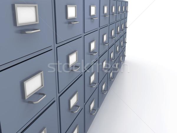 Bookshelf for documents Stock photo © blotty