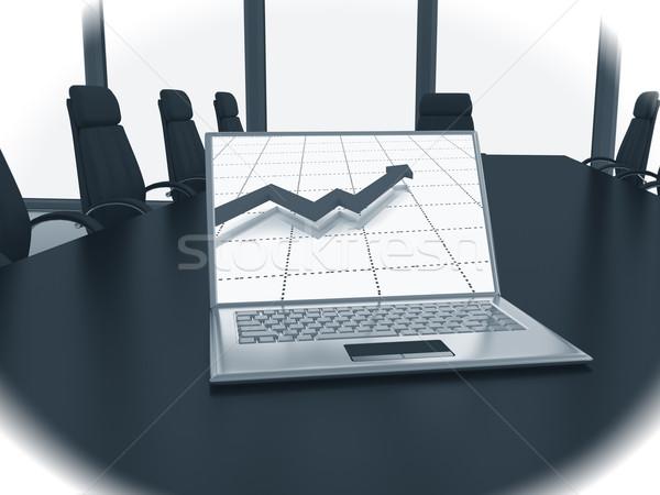 ビジネス 金融 会議 3dのレンダリング オフィス 表 ストックフォト © blotty