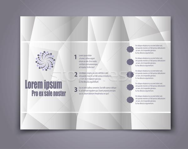 Resumen plantilla folleto diseno eps 10 Foto stock © blotty