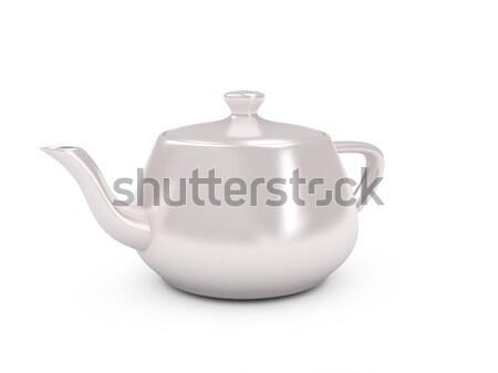 White tea pot over white background Stock photo © blotty