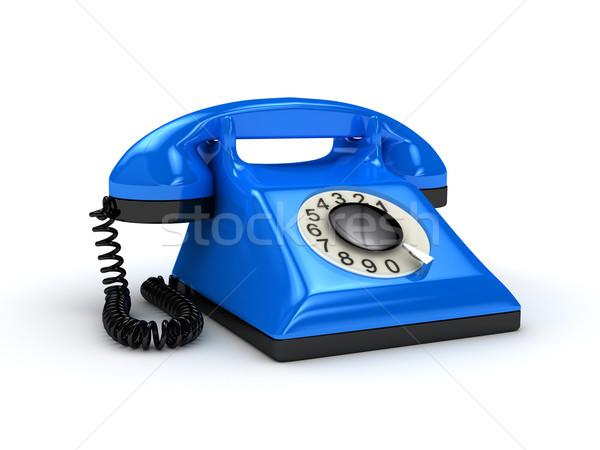 Telefoon witte 3D gerenderd afbeelding business Stockfoto © blotty