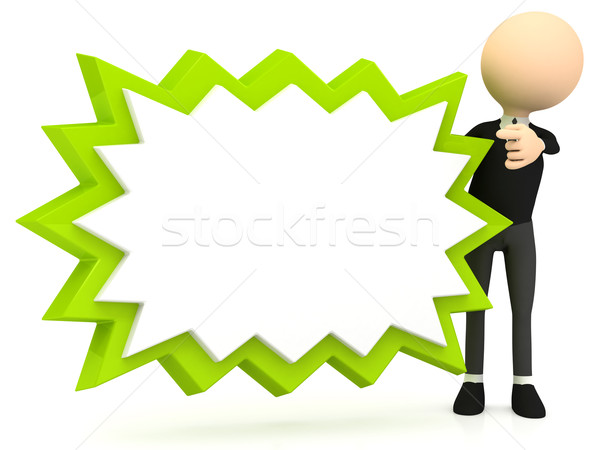 3d banner on white background Stock photo © blotty