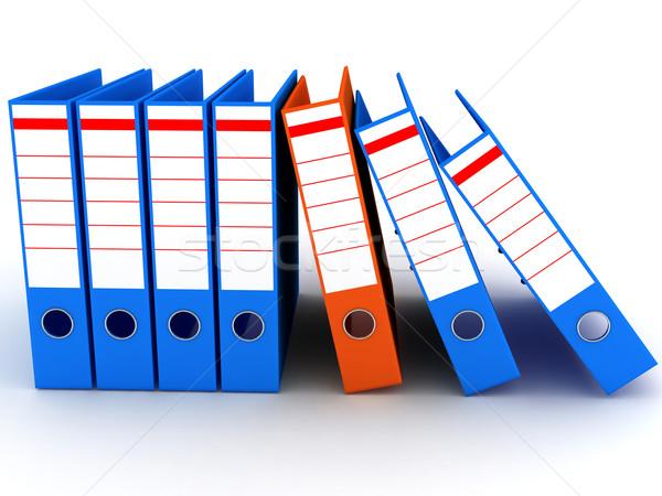 белый бизнеса данные папке файла Сток-фото © blotty