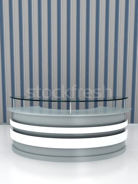 Recepcji tabeli biały piętrze działalności biuro Zdjęcia stock © blotty
